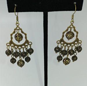 NWT TeSori Bronze Chandelier Earrings